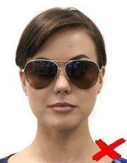 dark sunglasses id photo