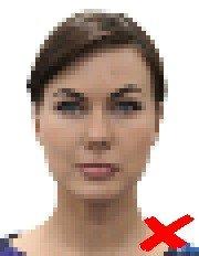 pixelated id photo