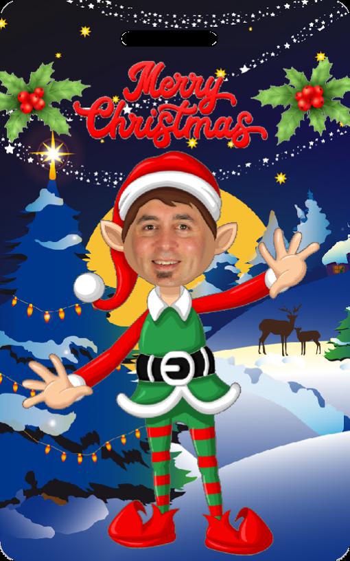 novelty elf boy xmas card